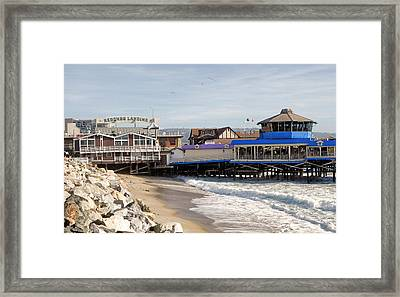 Redondo Beach Pier Shopping Framed Print