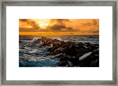 Redondo Beach Sunset Framed Print
