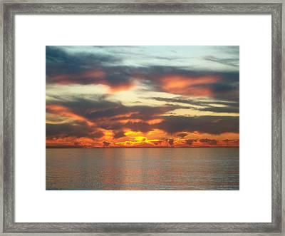 Redondo Beach Sunset Framed Print