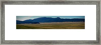Redondo Peak Over The Caldera Panoramic Framed Print
