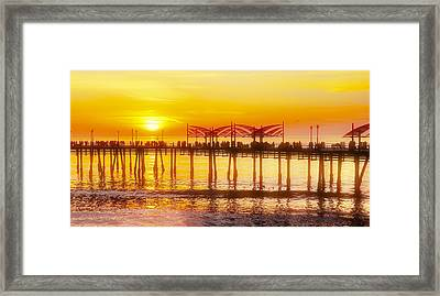 Framed Print featuring the photograph Redondo Sunset by Michael Hope