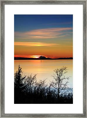 Redoubt Reliquish Framed Print by Ed Boudreau