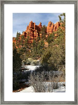Redrock Winter Framed Print