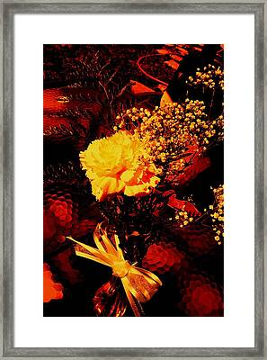 Reds And Yellows. Framed Print by Douglas Kriezel