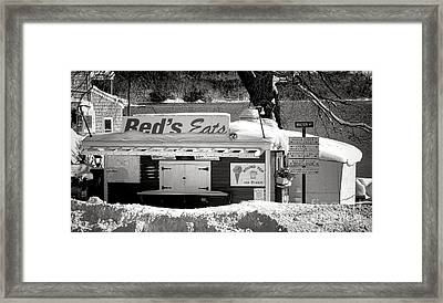 Reds Eats Is Closed For The Season Framed Print