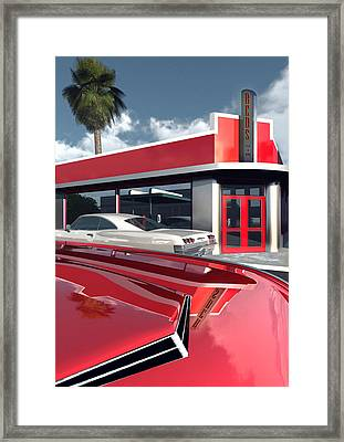 Reds Five And Dime Framed Print by Richard Rizzo