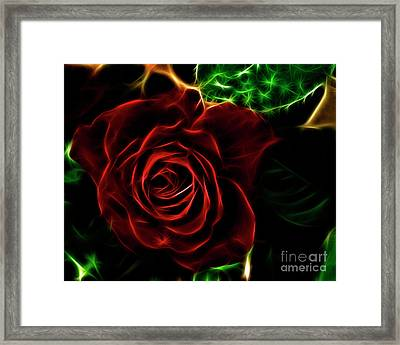 Red's Passion Framed Print