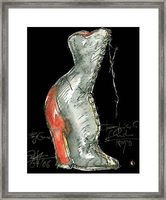 Redshoe Framed Print by Joerg Bernhard Klemmer