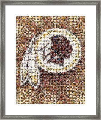 Redskins Mosaic Framed Print