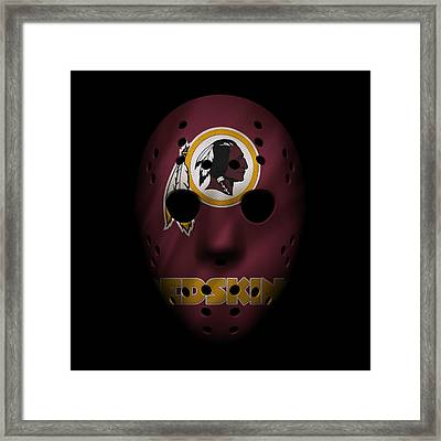 Redskins War Mask Framed Print