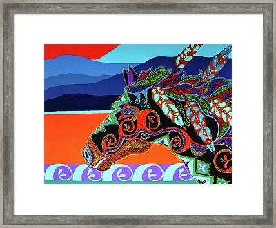 Redsky 01 Framed Print