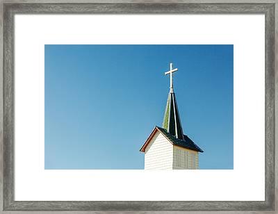 Redstone Steeple Framed Print