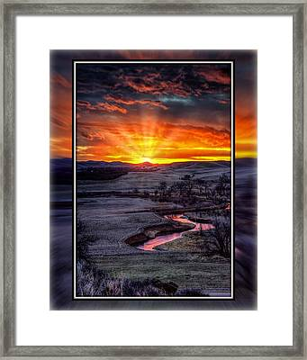 Redwater River Sunrise Framed Print