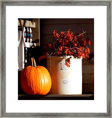 Redwing Autumn Framed Print by Wild Thing