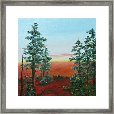 Redwood Overlook Framed Print