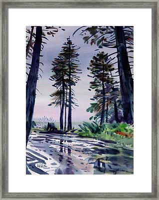Redwood Reflections   Framed Print by Donald Maier