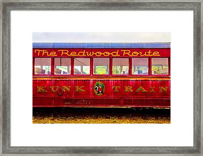 Redwood Route Coach Car Framed Print