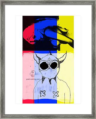 Red_yellow_blue Framed Print by Yeah Nothing