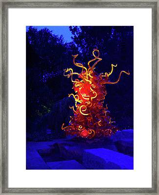 Redyellowbluenight Framed Print