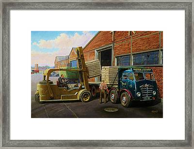 Reed Paper Foden Fg Framed Print by Mike  Jeffries