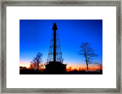 Reedy Island Range Rear Lighthouse Framed Print