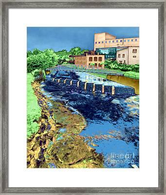 Reedy River Greenville Sc Framed Print by Rachelle Petersen