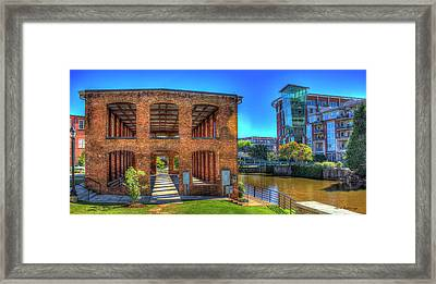 Reedy River Mill Venue Greenville South Caroline Art Framed Print