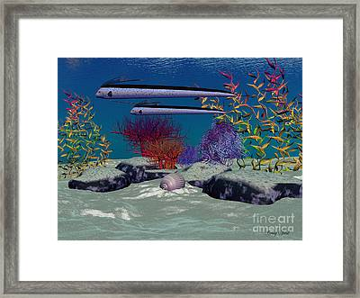 Reef Framed Print by Corey Ford
