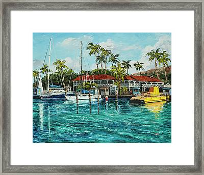 Framed Print featuring the painting Reef Dancer  by Darice Machel McGuire