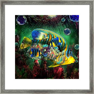 Reef Fish Fantasy Art Framed Print