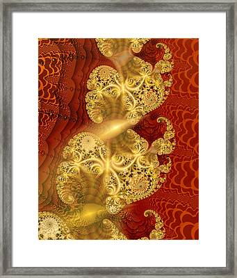 Framed Print featuring the digital art Reef Life by Richard Ortolano