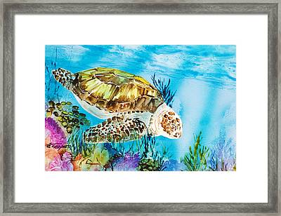 Reef Surfin Framed Print by Tanya L Haynes - Printscapes