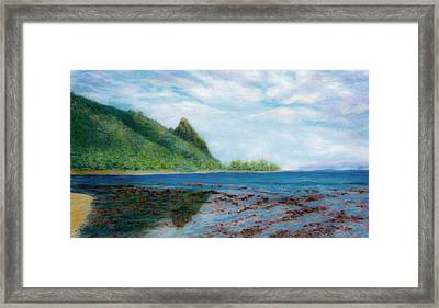 Reef Walk Framed Print by Kenneth Grzesik