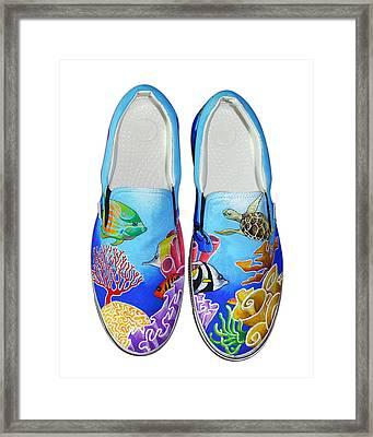 Reef Walkers Framed Print by Adam Johnson