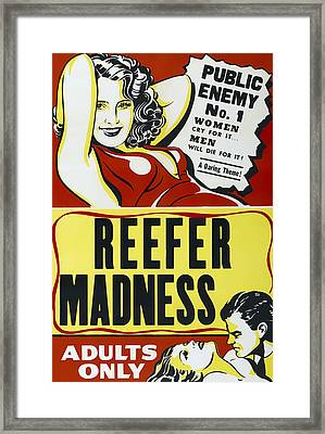 Reefer Madness Movie Lobby Ad  1936 Framed Print