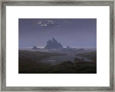 Reefs By The Seashore Framed Print by Caspar David Friedrich
