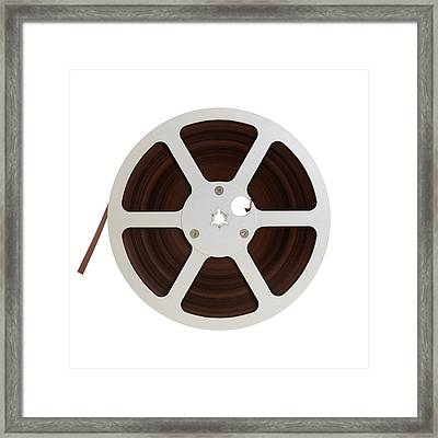 Reel Of Audio Recording Tape Framed Print by Jim Hughes