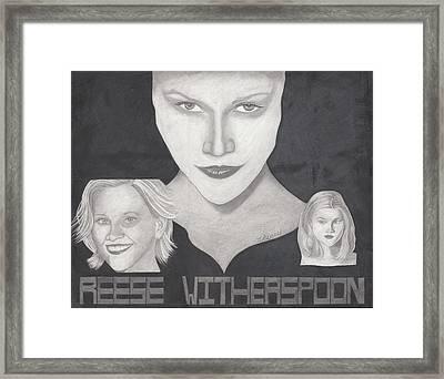 Reese Witherspoon Framed Print by Tara Kearce