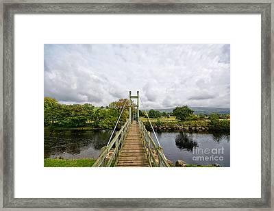 Reeth Swing Bridge Framed Print by Nichola Denny
