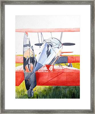 Reflection On Biplane Framed Print