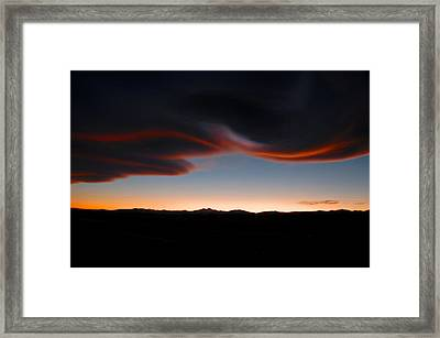 Refections On The Clouds Framed Print by James Steele
