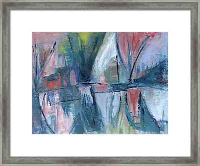 Reflections On Sails And Canvas Framed Print