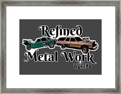 Refined Metal Work Framed Print