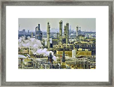 Refineries In Houston Texas Framed Print