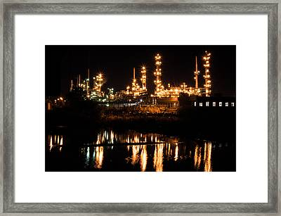 Refinery At Night 1 Framed Print