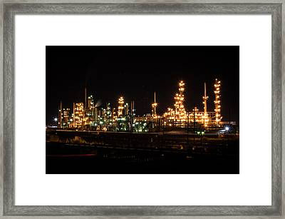 Refinery At Night 3 Framed Print