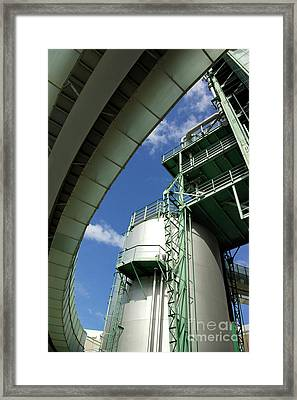 Refinery Detail Framed Print by Carlos Caetano