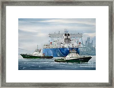 Refinery Tanker Escort Framed Print by James Williamson