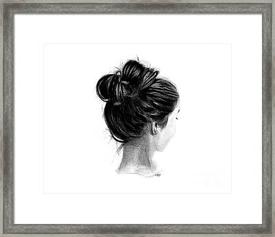 Reflect - Charcoal Portrait Framed Print by SnazzyHues