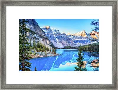Reflect On Nature Framed Print by James Heckt